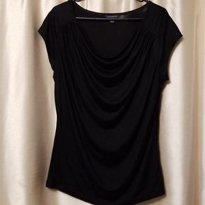 Black large cowl neck top by Banana Republic